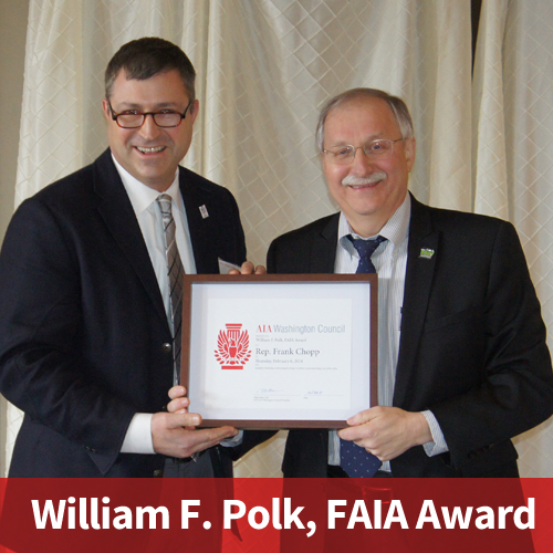Rep. Frank Chopp receives William F. Polk FAIA Award